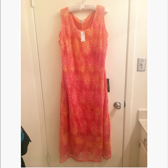Avenue Dresses Nwt Fiery Orange Dress For Plus Size Princess